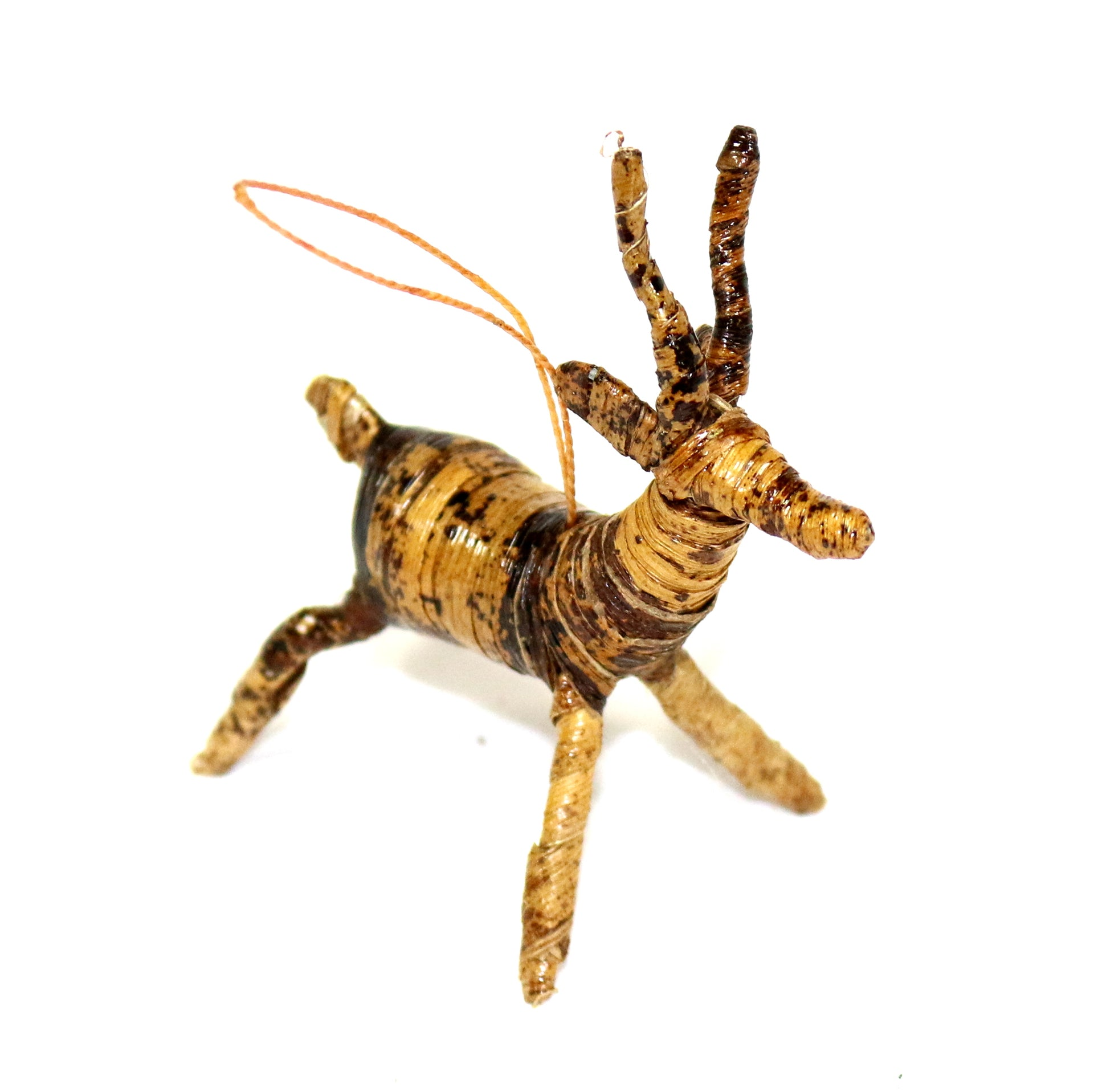 Banana Fiber Ornament - Antelope