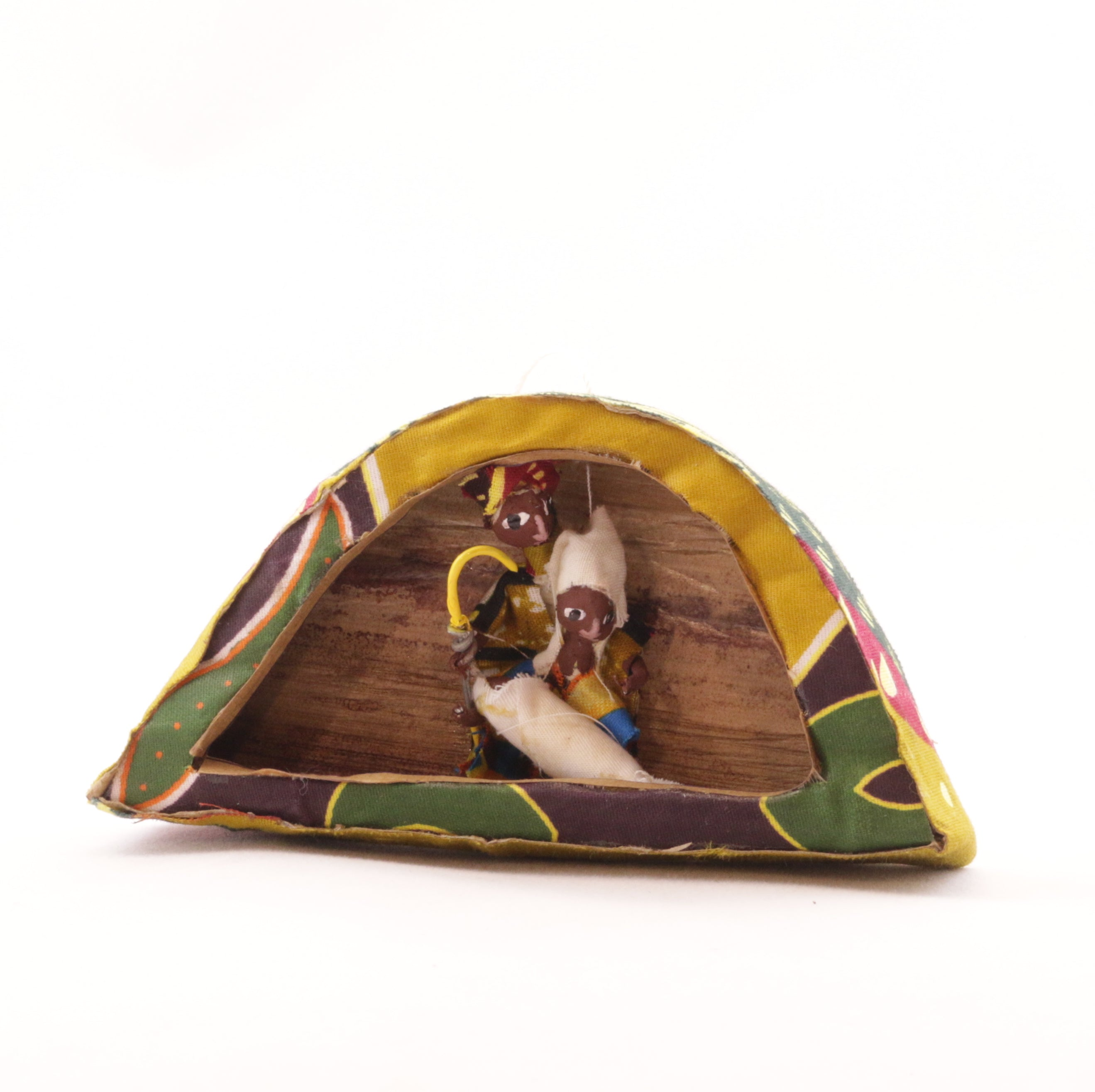 African Figurine Ornament - Holy Family in Arch