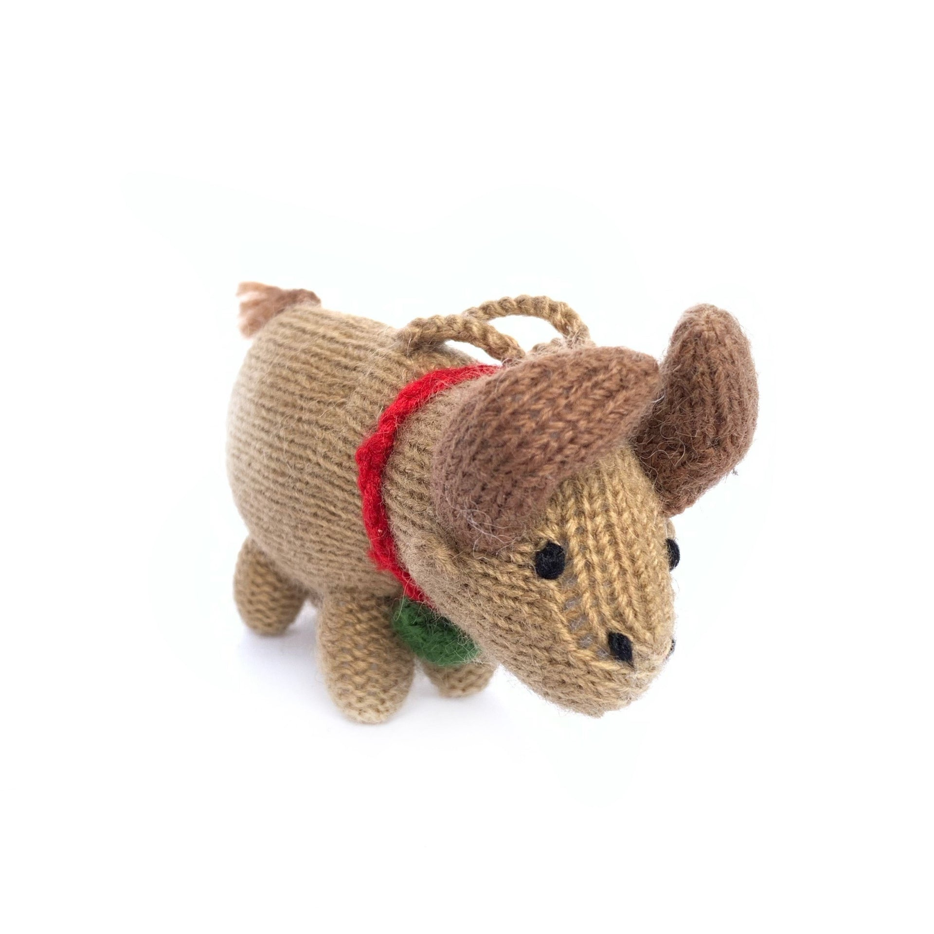 Cow Ornament, Knit Wool