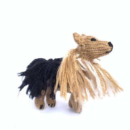 Knit Dog Christmas Ornament Handmade
