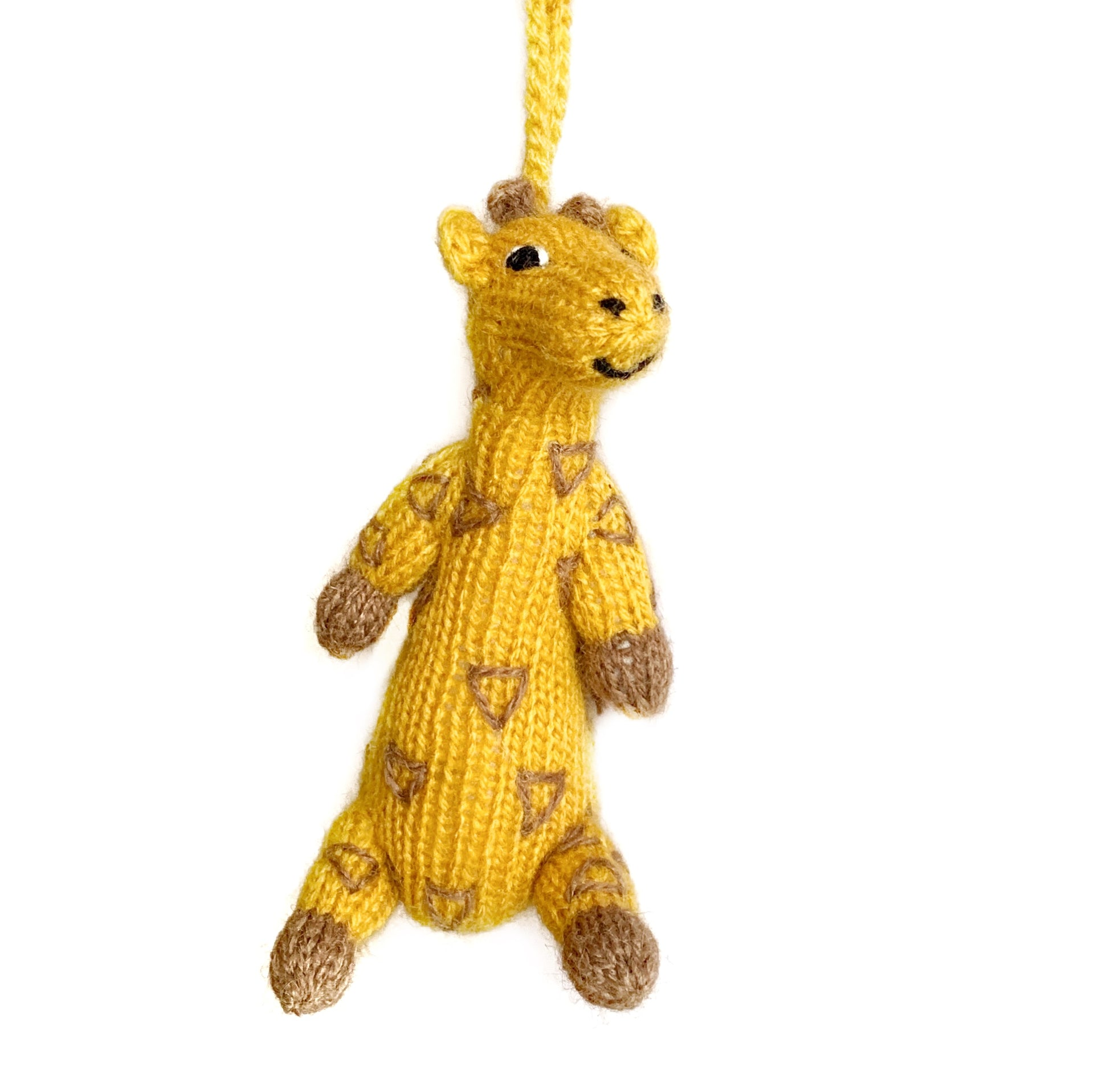 Knit Giraffe Christmas Ornament Handmade