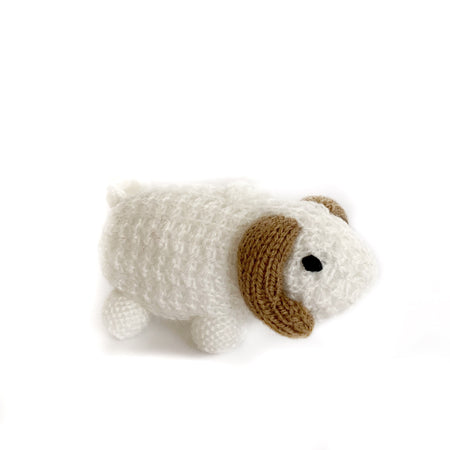 Knit Ram Christmas Ornament Handmade Wool