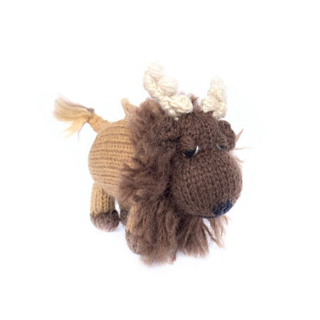 Yak Christmas Ornament Handmade Knit Wool