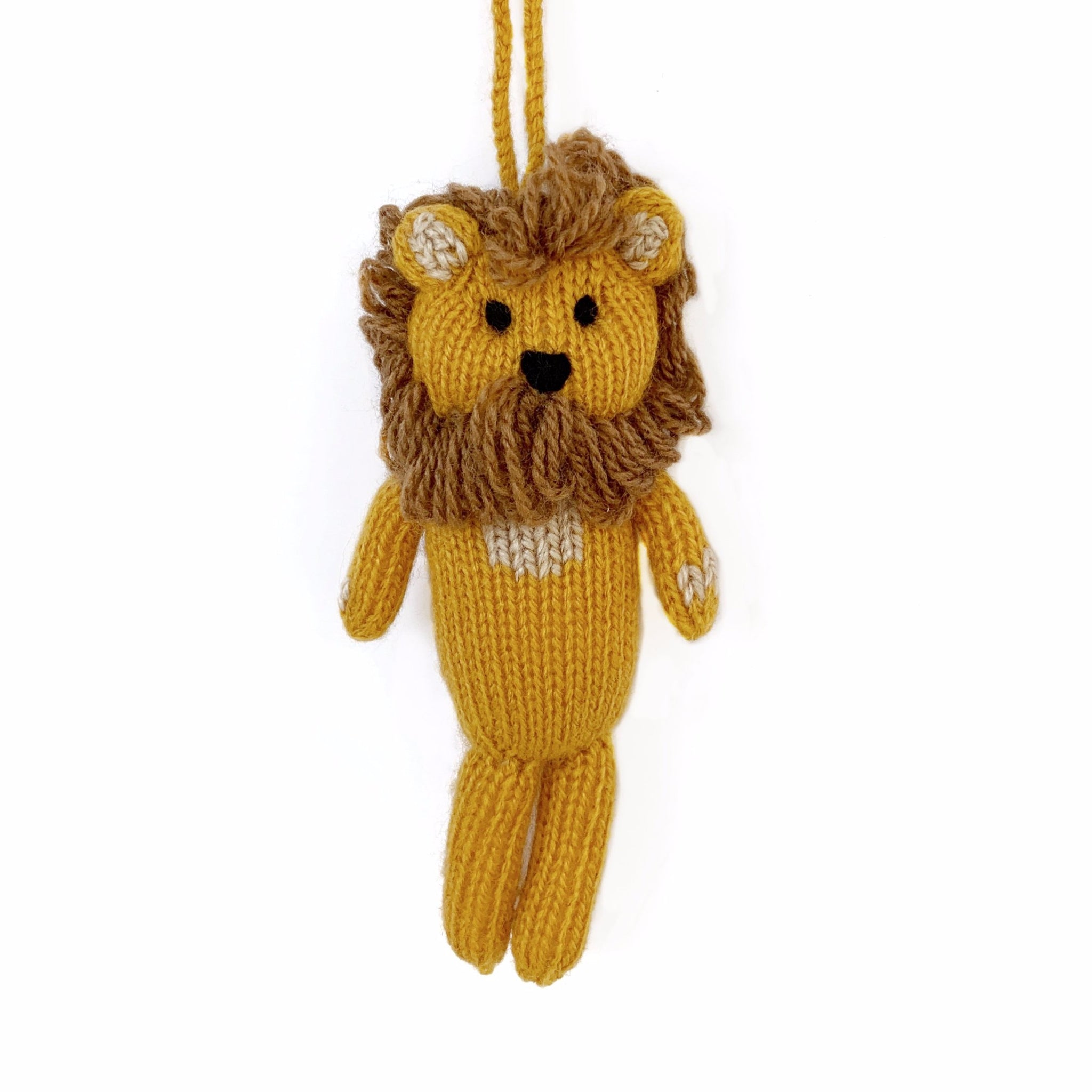 Knit Lion Ornament Fair Trade Christmas
