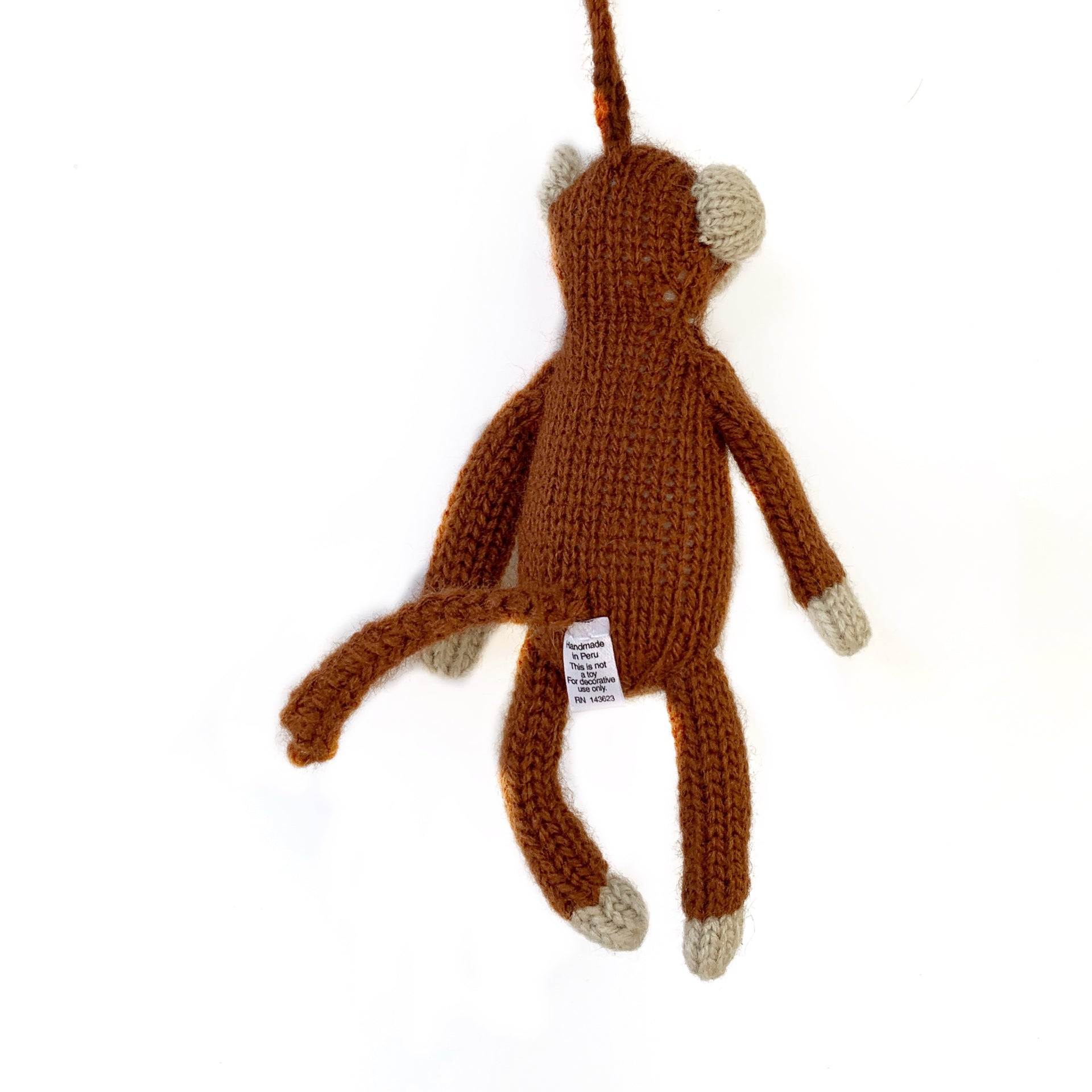 Knit Monkey Ornament Fair Trade Christmas