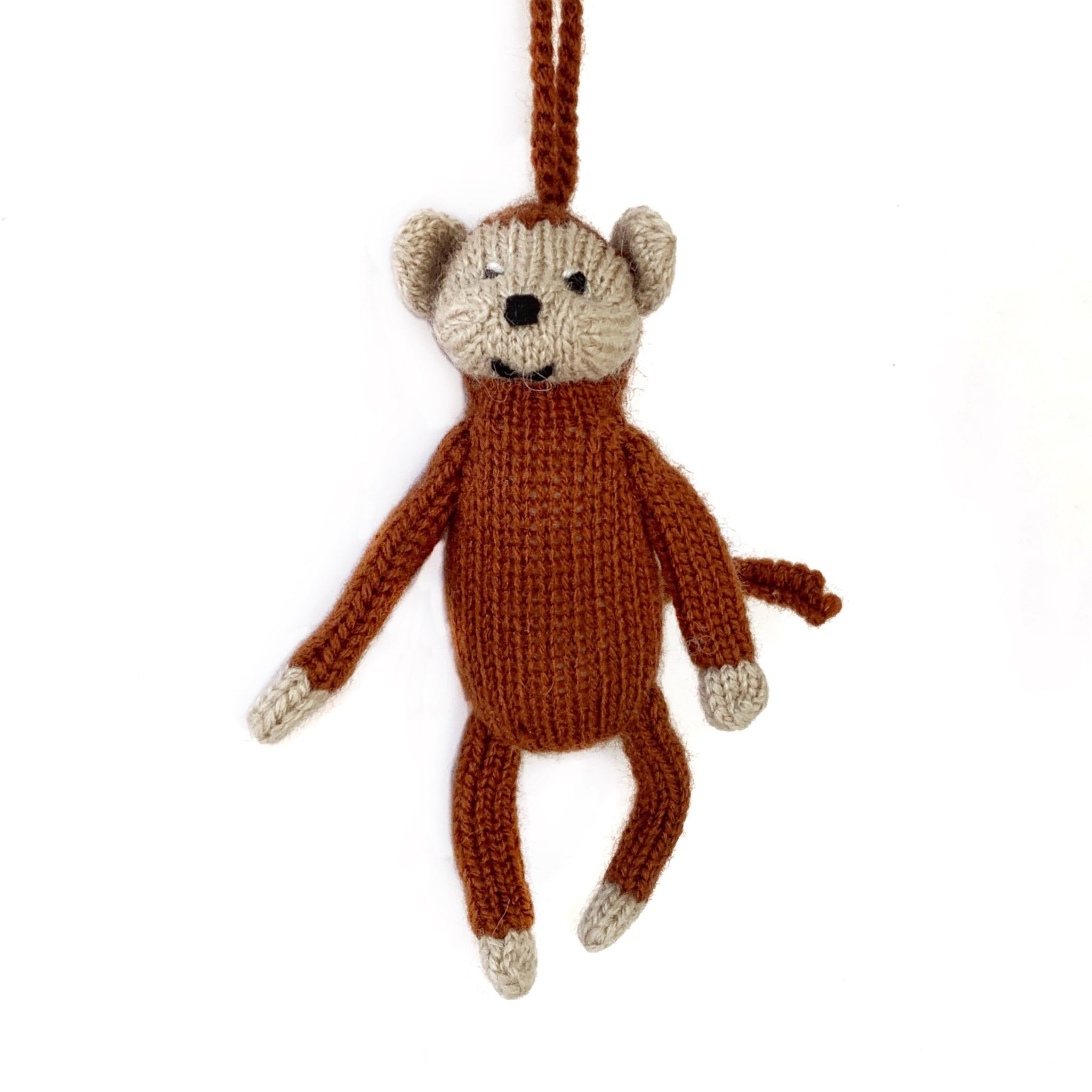 Monkey Ornament Handmade Fair Trade