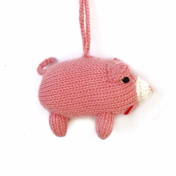 Pink Pig Christmas Ornament Fair Trade