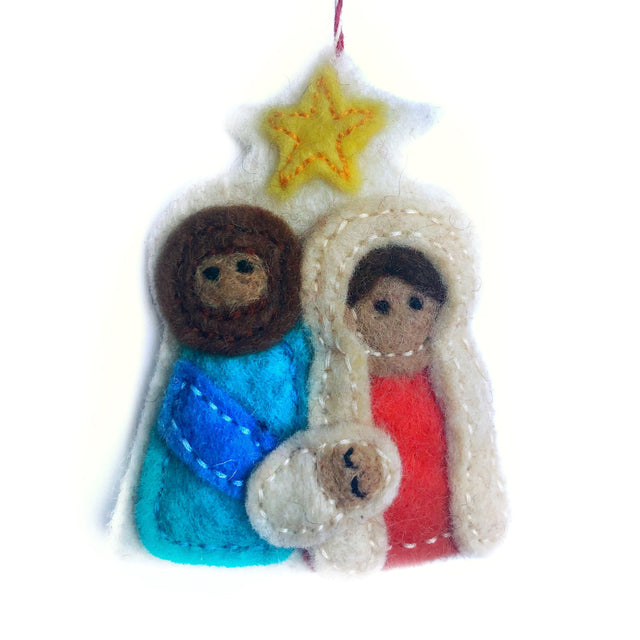 Nativity Ornament, Felt Wool