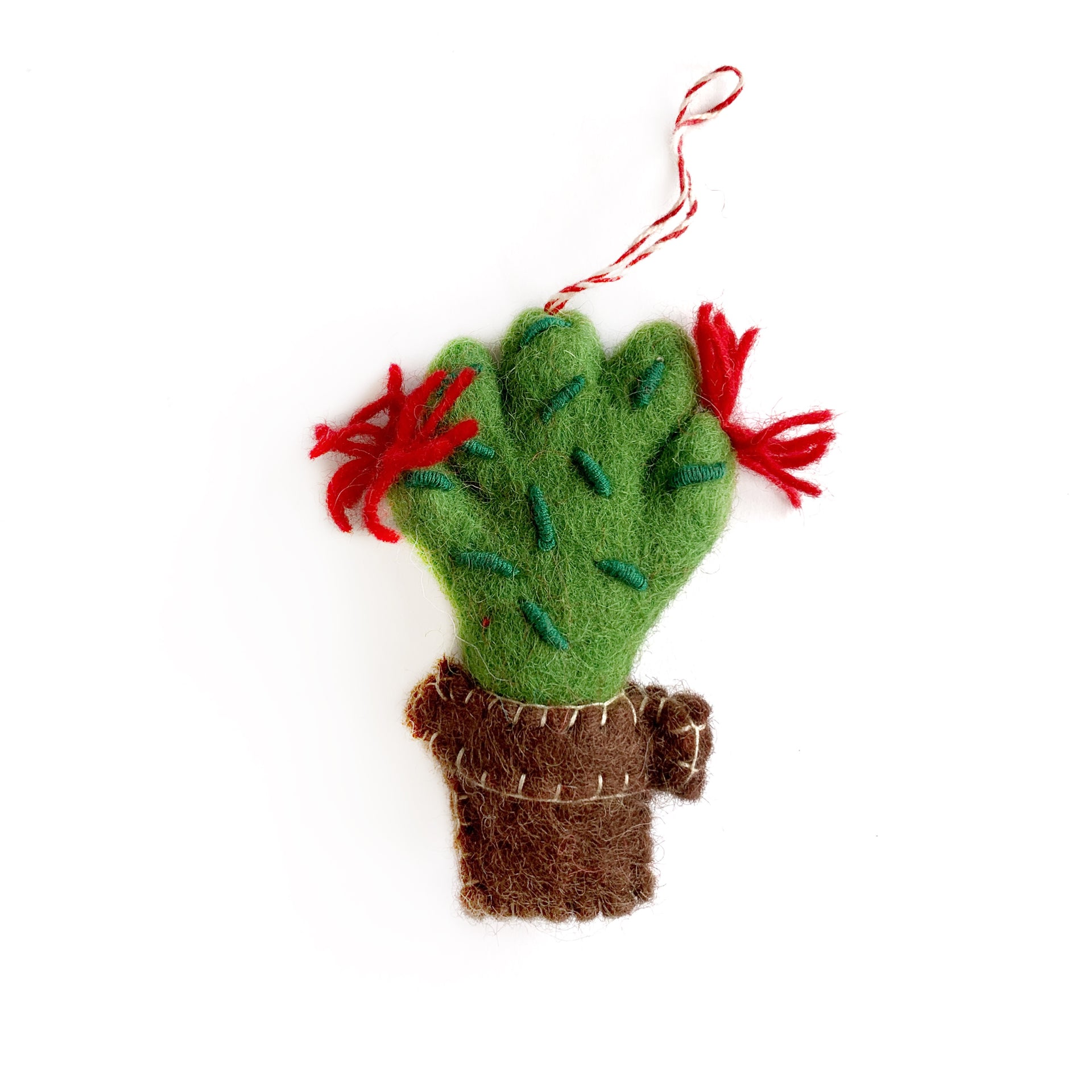 Cactus Ornament Fair Trade Nepal Felted