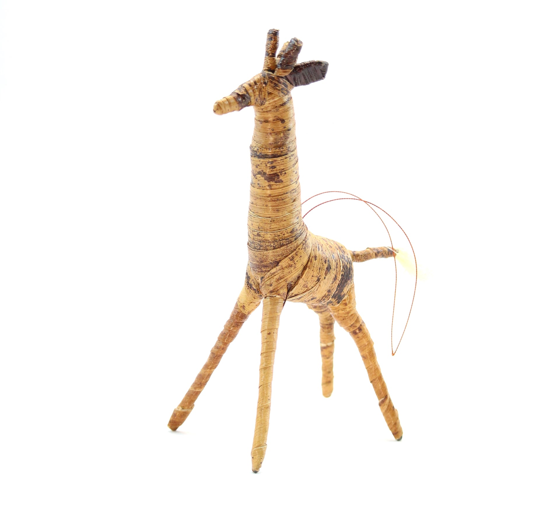 Banana Fiber Ornament - Giraffe