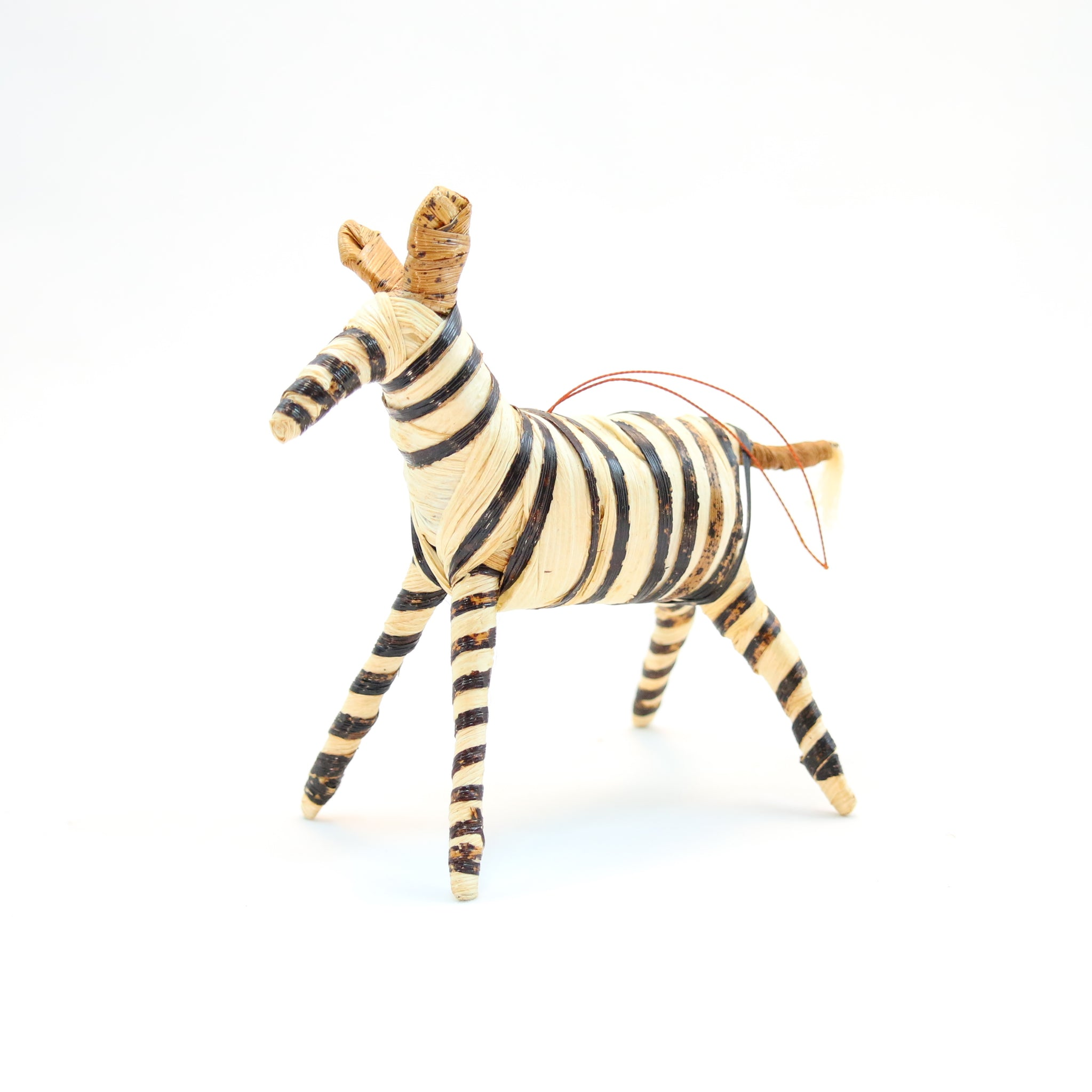 Banana Fiber Ornament - Zebra