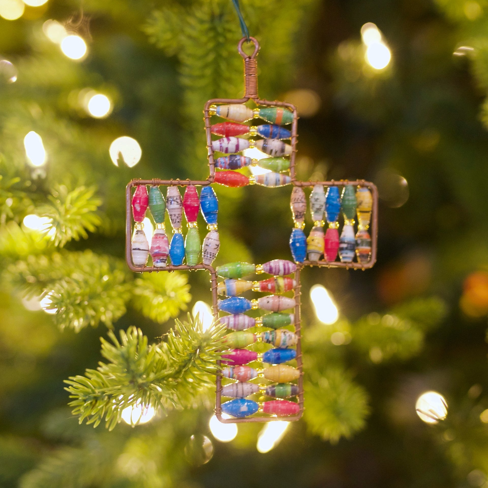 Cross Paper Bead Ornament