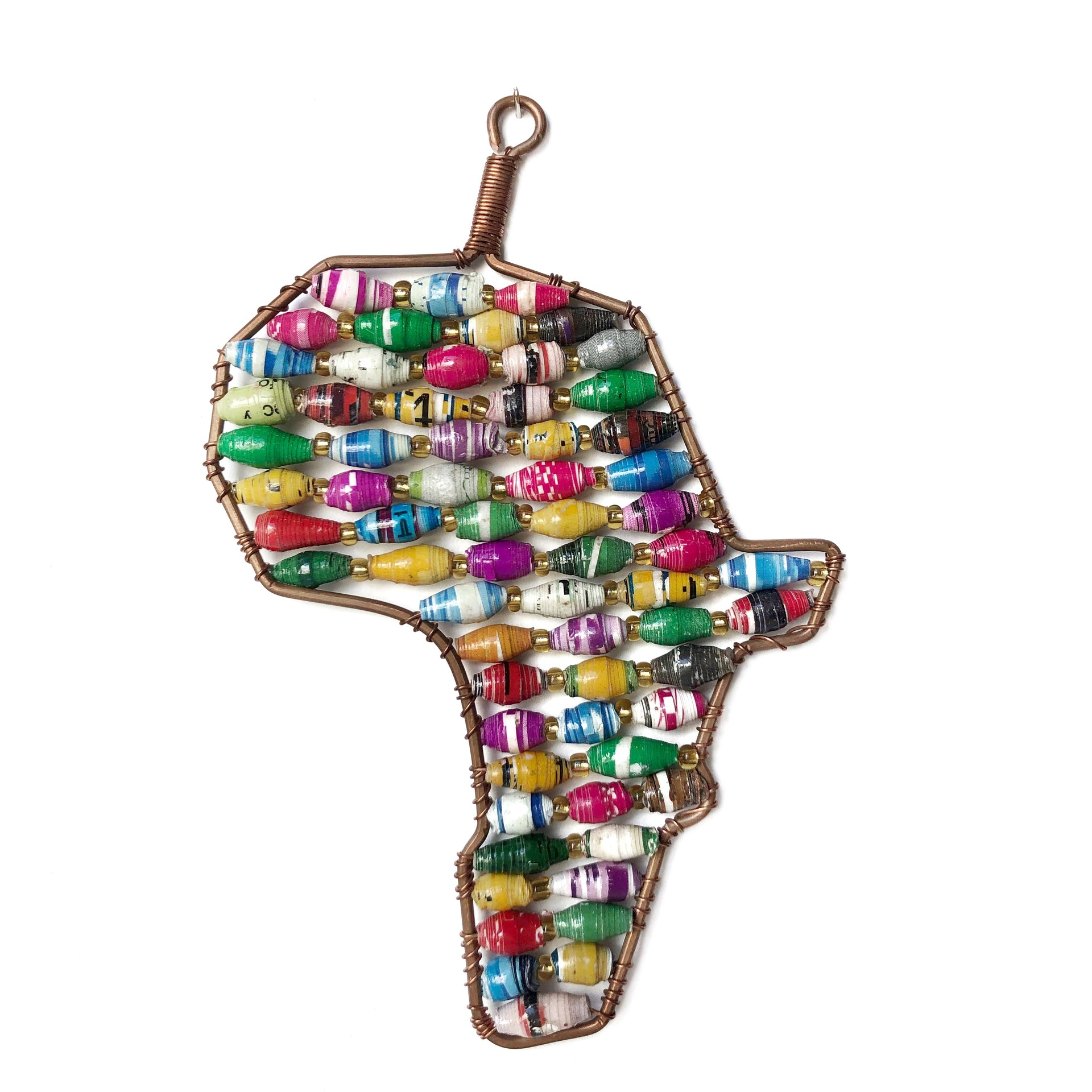 Paper Bead Africa Ornament Handmade Fair Trade