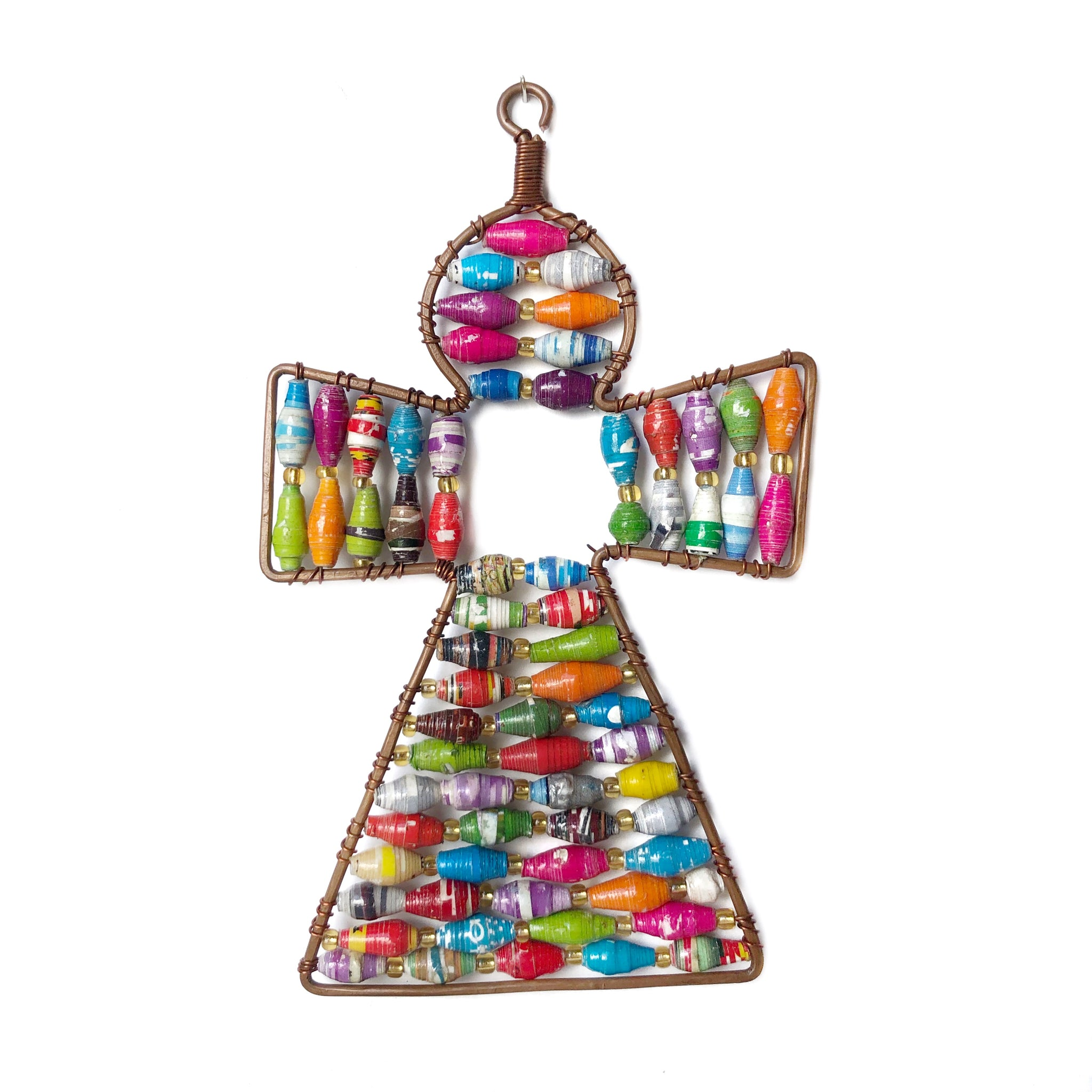 Paper Bead Ornament, Angel