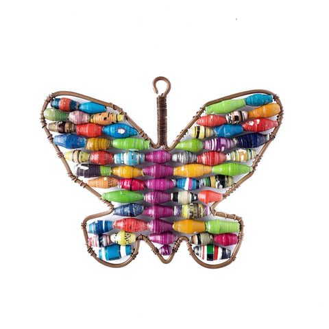 Butterfly Christmas Ornament Handmade Paper Bead
