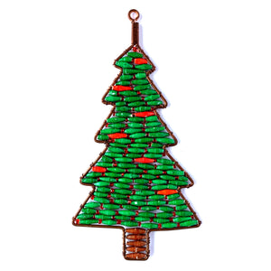 Paper Bead Christmas Tree Ornament Handmade Fair Trade