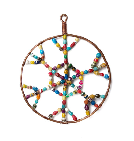Paper Bead Snowflake Colorful Christmas Ornament