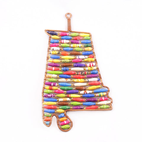 Paper Bead Alabama Christmas Ornament