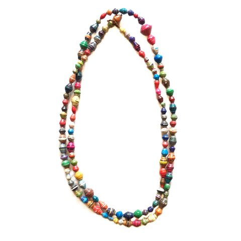 Paper Bead Garland Necklace Fair Trade Uganda