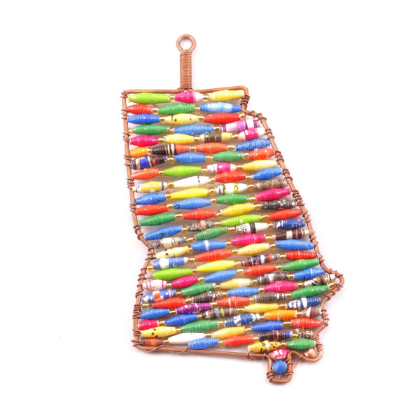 Paper Bead Georgia State Christmas Ornament