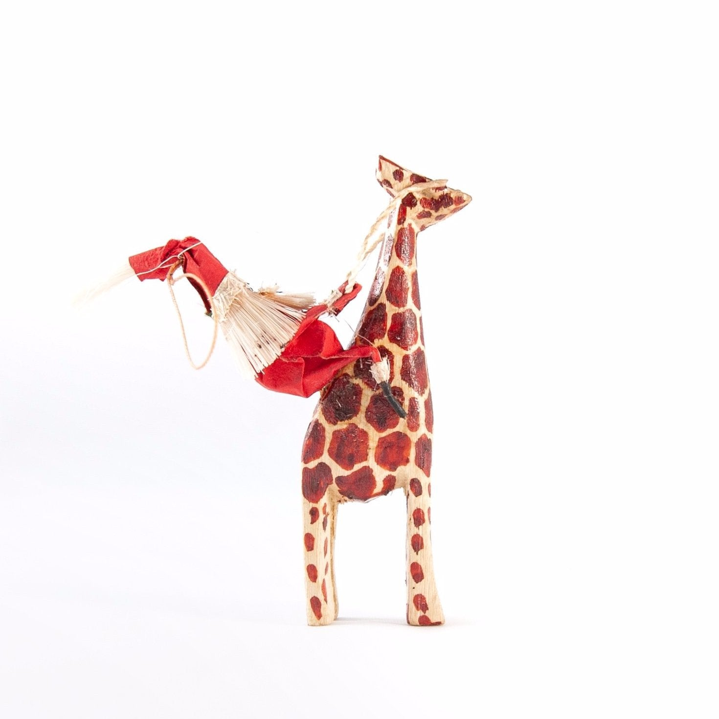 Santa Giraffe Ornament Africa Kenya Fair Trade