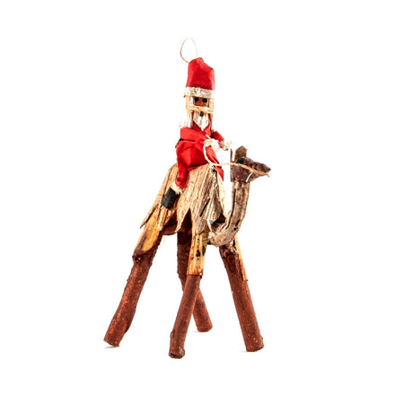 African Santa Riding Camel Christmas Ornament