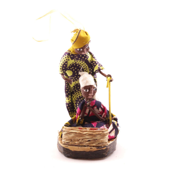 Mary Joseph Baby Jesus Ornament from Africa