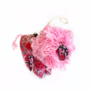 Pink Lion Ornament Christmas Fair Trade