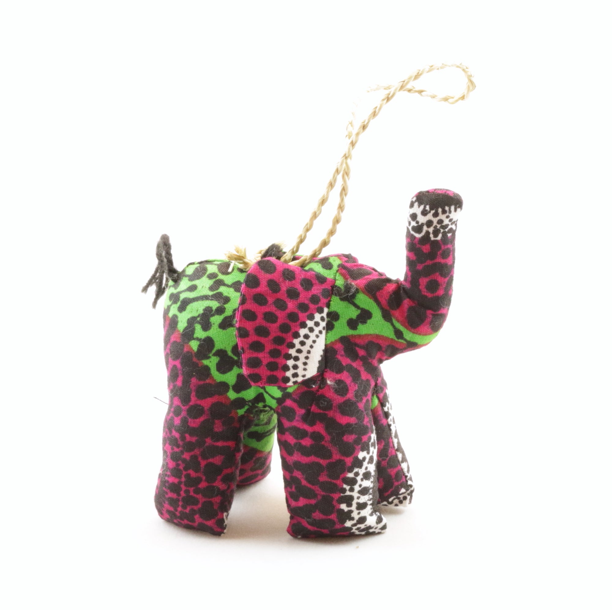 Stuffed Elephant Ornament (Various Colors)