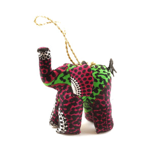 Pink Elephant Christmas Ornament
