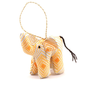 Stuffed Elephant Ornament Africa Fair Trade