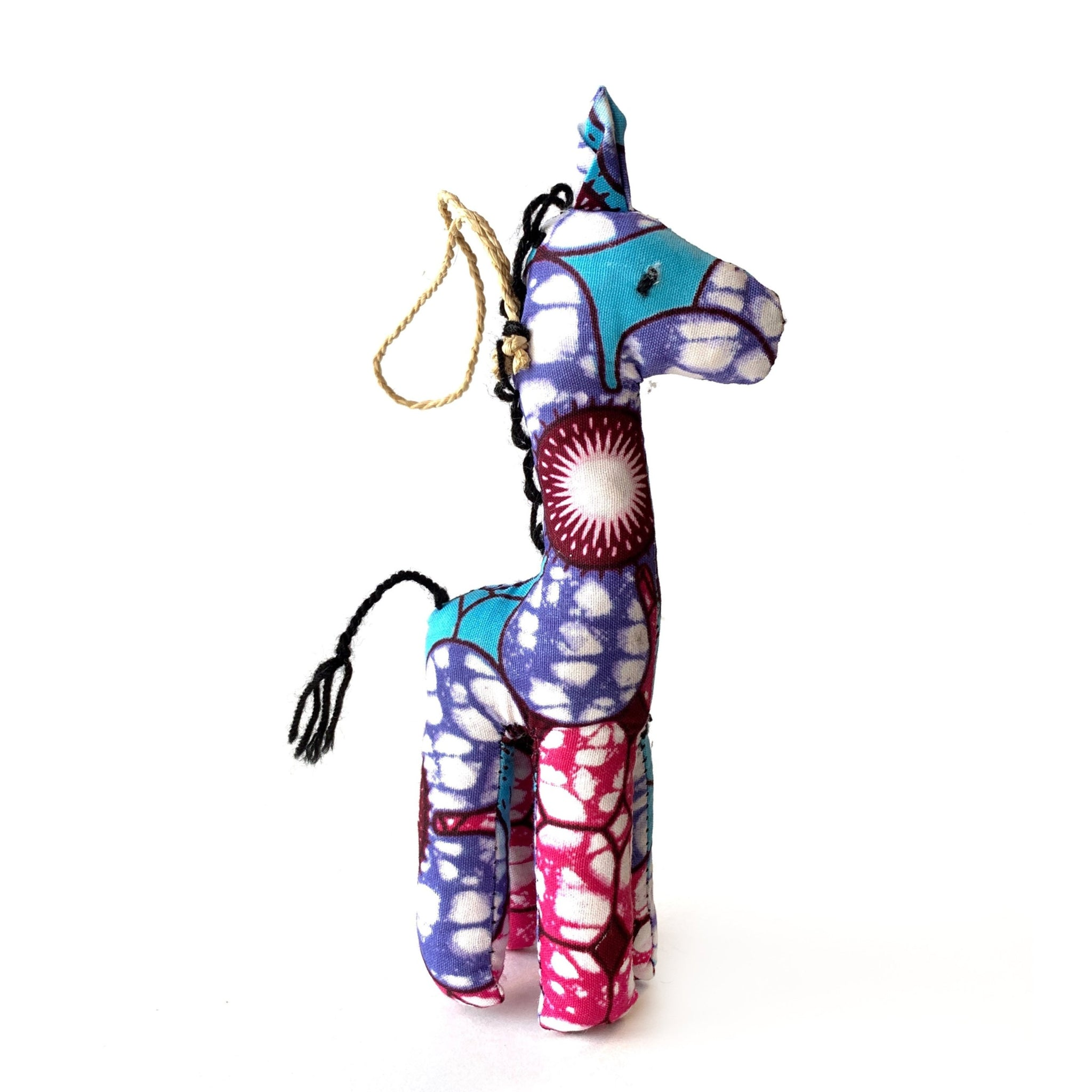 Fair Trade Colorful Giraffe Christmas Ornament