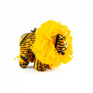 Stuffed Lion Ornament Yellow Fair Trade Africa