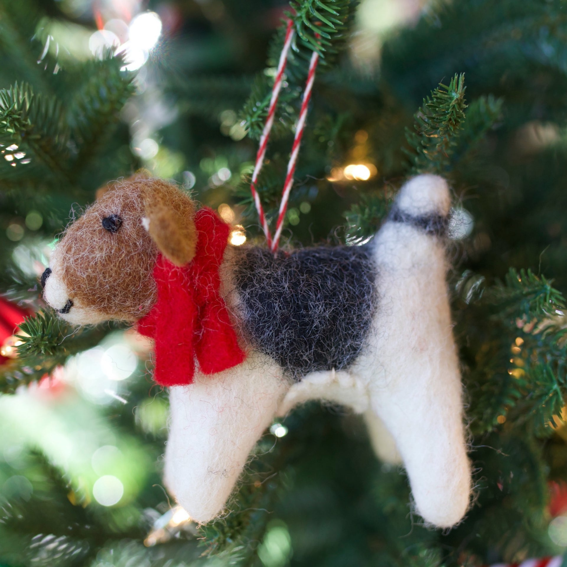 Dog Ornament, Tufted Wool