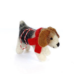 Handmade Dog Ornament Fair Trade Tufted Wool