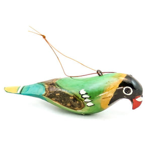 Green Parrot African Christmas Ornament
