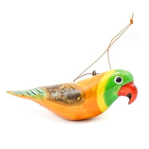 African Parrot Christmas Ornament Fair Trade