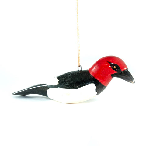 Red-Headed Woodpecker Christmas Ornament