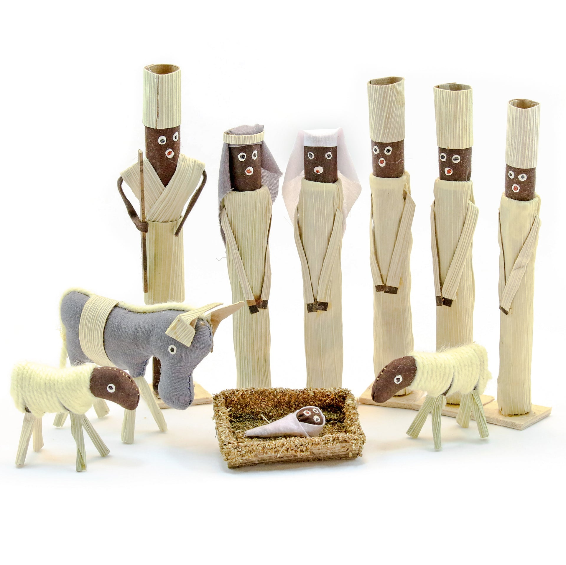 Corn Husk Nativity Set