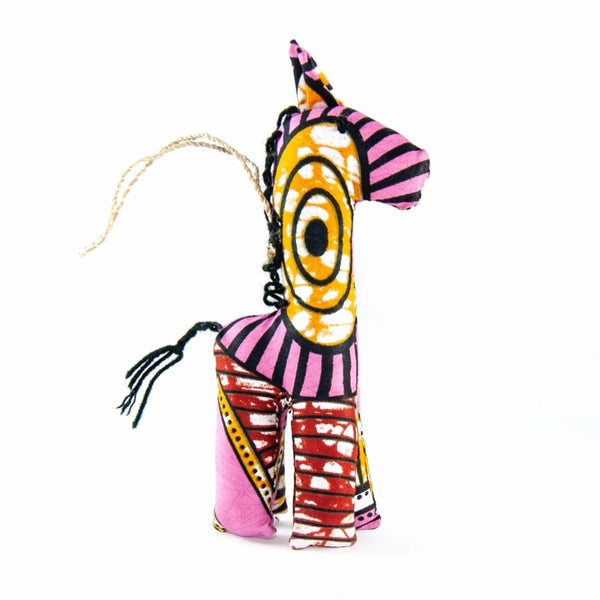 Pink Giraffe Ornament Christmas Fair Trade