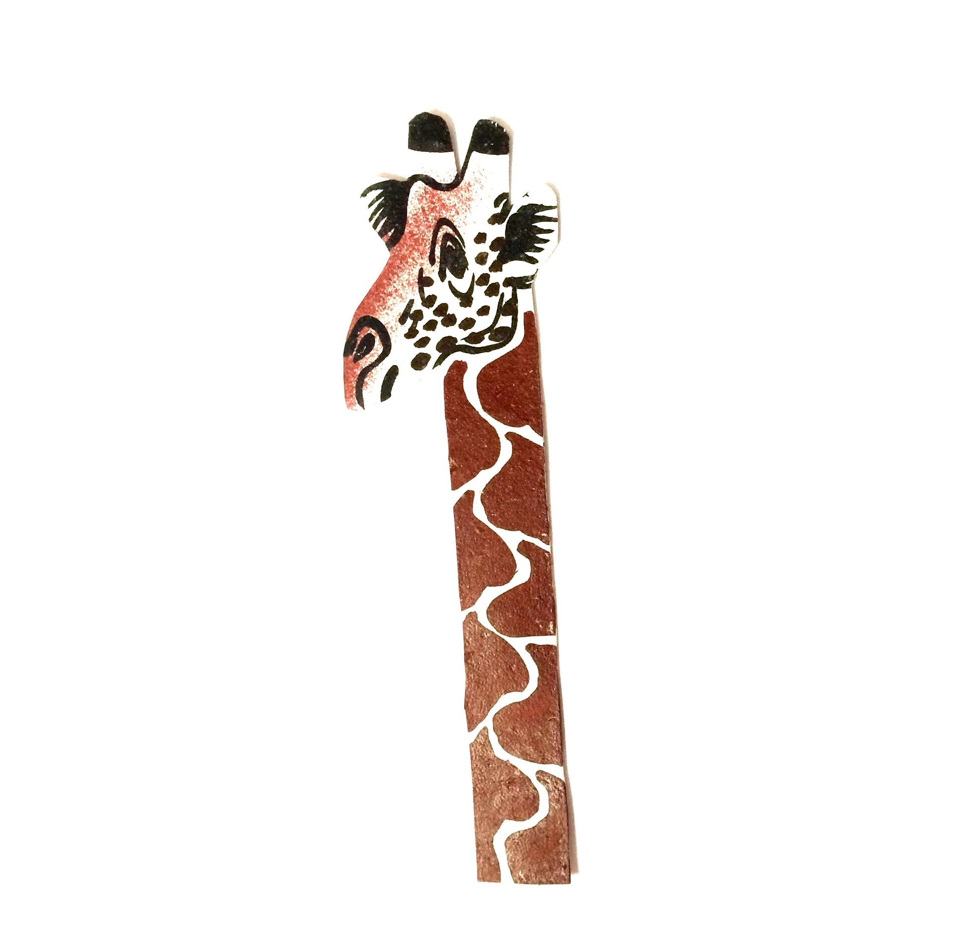 African Bookmark - Leather