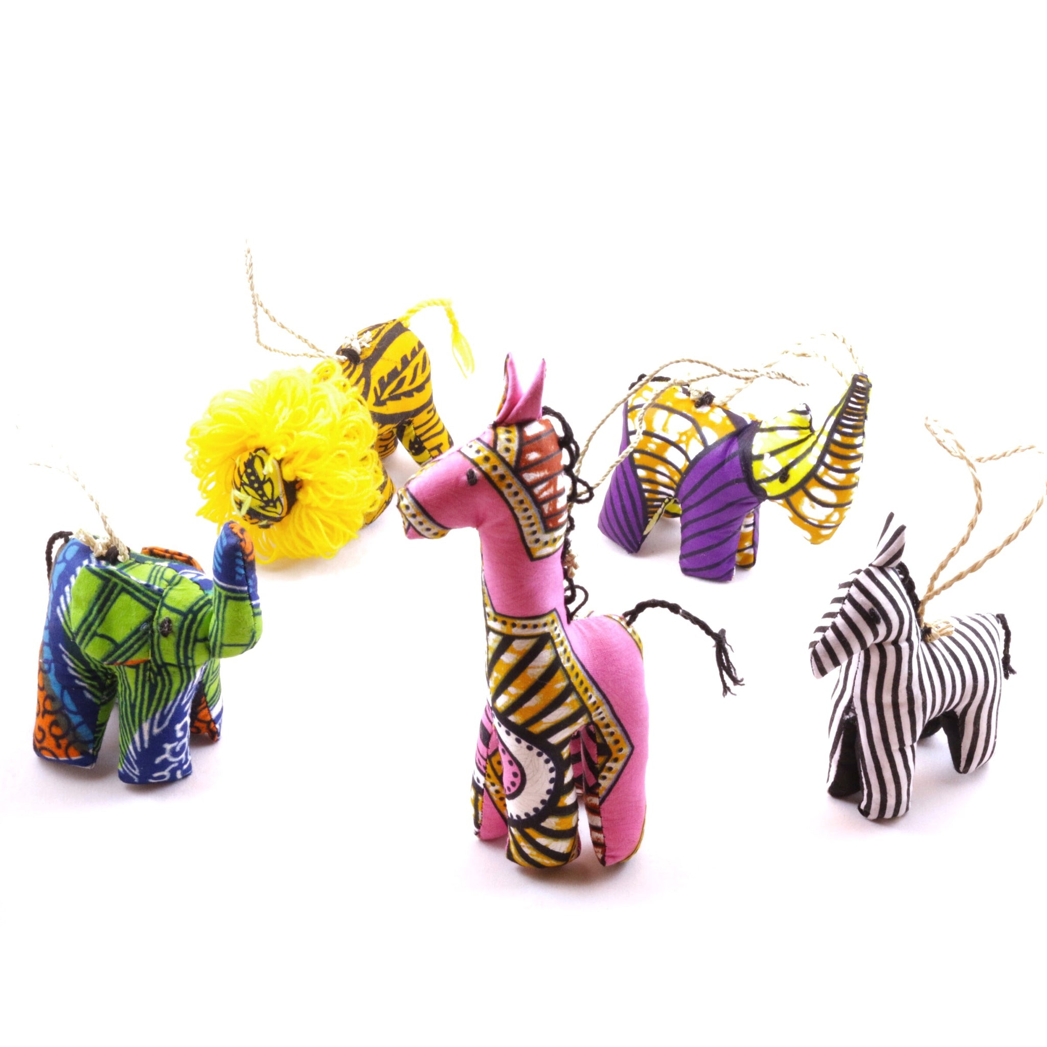 Stuffed Animal Ornament Set - Bright