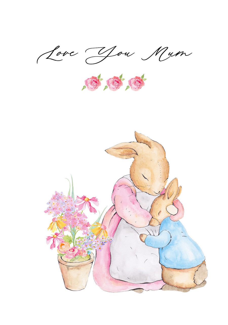 Peter Rabbit and Josephine Rabbit Mother's Day Card