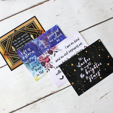Literary Postcard Set