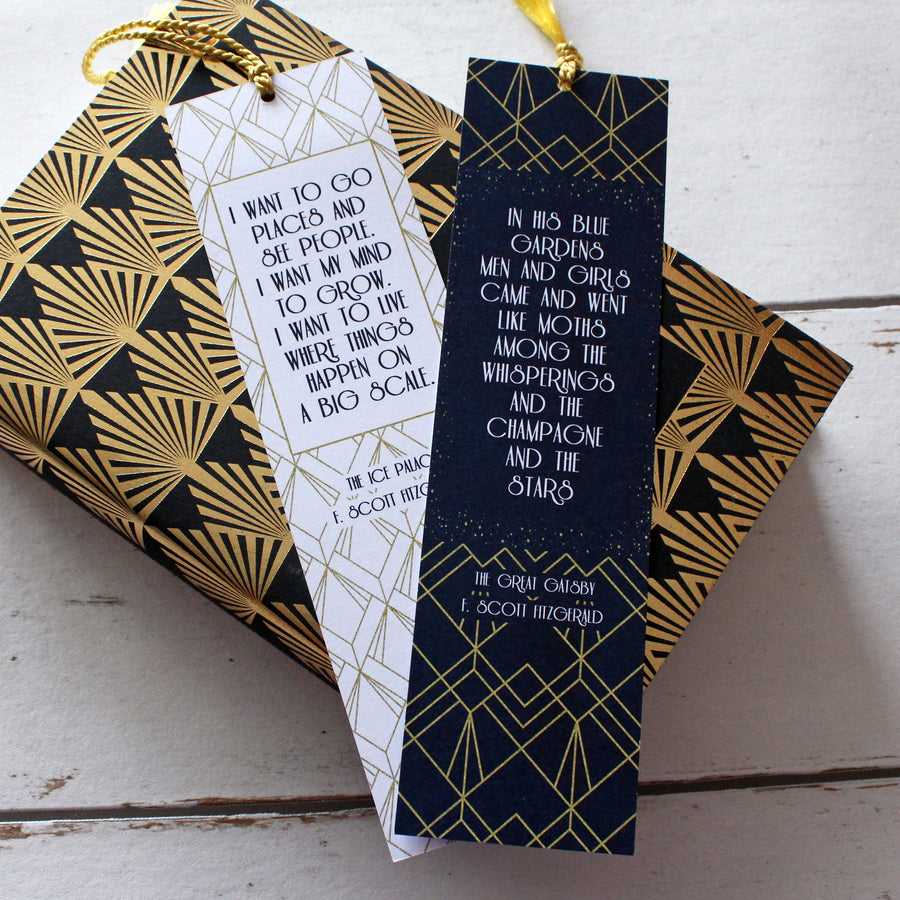 Jazz Age - F. Scott Fitzgerald Limited Edition Tassel Bookmarks