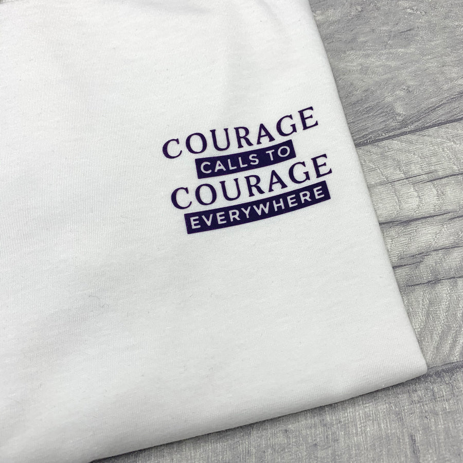 Courage Calls To Courage Everywhere Recycled T-Shirt