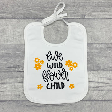 Live Wild Flower Child Baby Bib