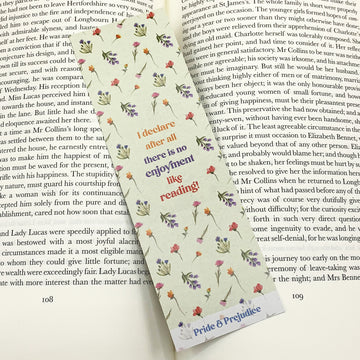Pride and Prejudice - 'There Is No Enjoyment Like Reading' Bookmark