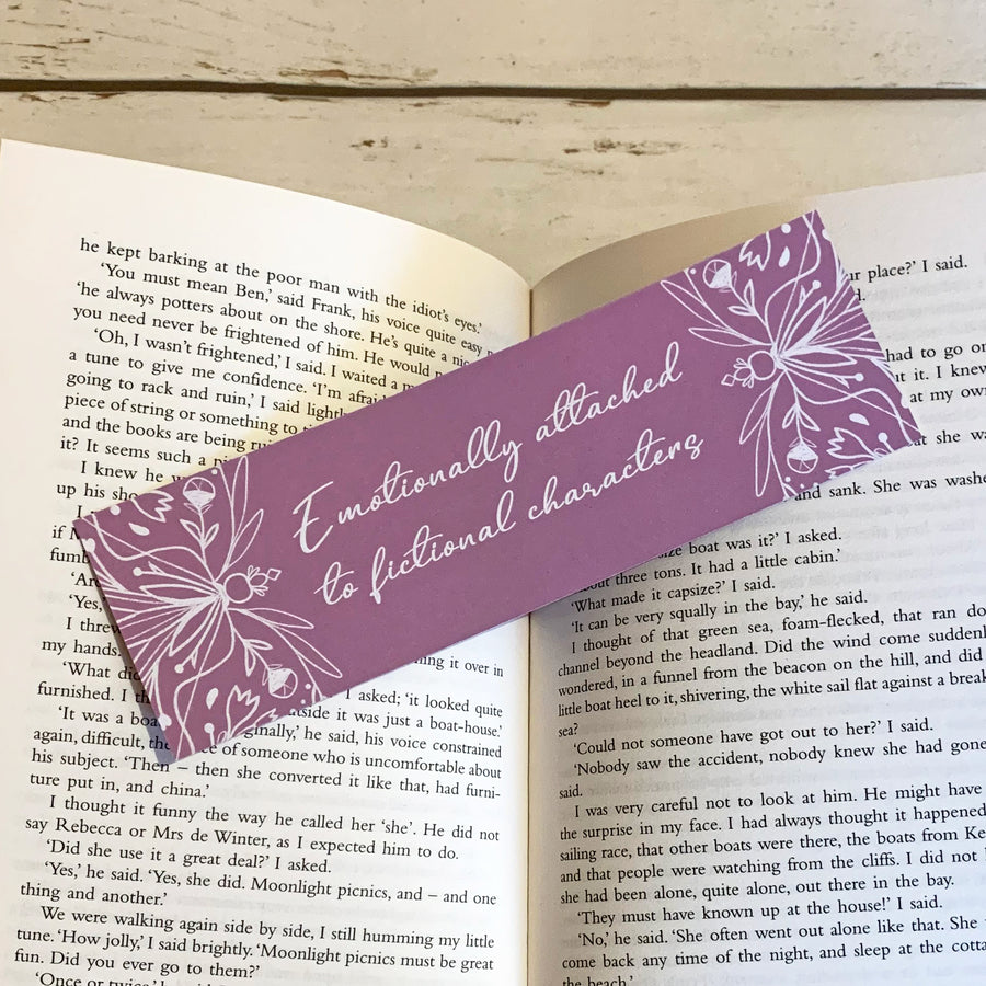 Emotionally Attached To Fictional Characters Bookmark