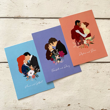 Literary Couples Postcards